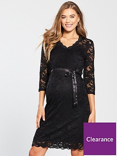 mama-licious-maternity-mivana-jersey-lace-effect-dress-with-tie-detailing-blacknbsp