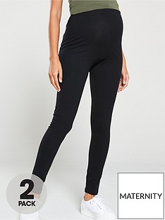 mama-licious-2-pack-maternity-leggings-black
