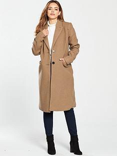 vero-moda-petite-nbsplong-tailored-coat-camelnbsp