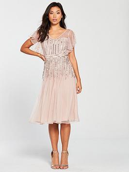 frock-and-frill-v-neck-fluted-sleeve-embellished-midi-dress-blush