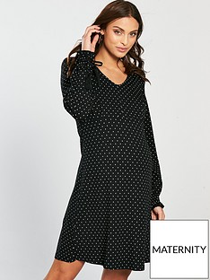 mama-licious-nursing-bitten-mary-polka-dot-jersey-dress-printed