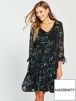 mama-licious-maternity-sami-woven-dress-with-gathered-bust-blacknbsp