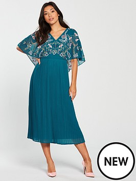 frock-and-frill-bina-embroidered-top-pleated-midi-dress