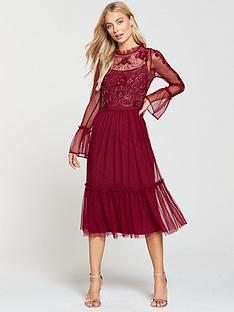 frock-and-frill-mesh-amp-embellished-top-frill-detail-midi-dress-persian-red