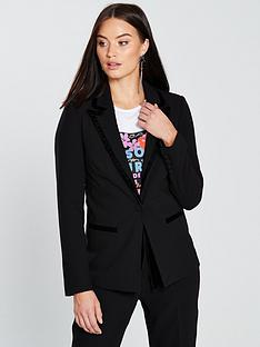 v-by-very-velvet-trim-blazer-black