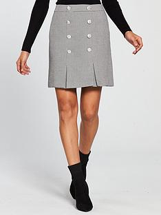 v-by-very-military-mini-skirt-silver