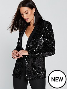 v-by-very-sequin-tux-blazer-black