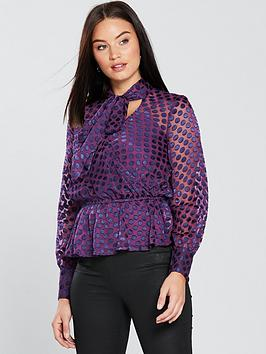 v-by-very-pussybow-spot-burnout-top-purple