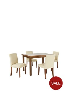 morris-120-150-cm-solid-wood-extending-table-4-chairs-creamwalnut