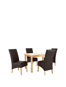 mccauley-120-150-cm-solid-wood-extending-table-4-chairs-brownoak