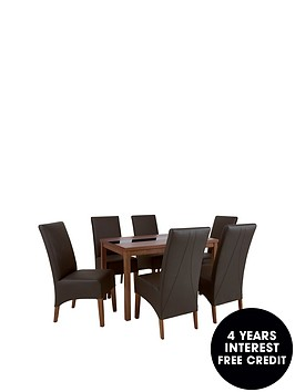 mccauley-120-cm-solid-wood-and-glass-dining-table-6-chairs-blackwalnut
