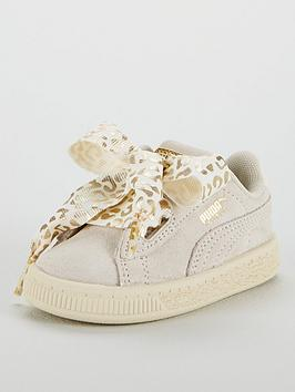 puma suede heart athluxe infant trainer