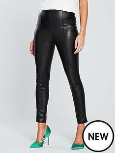 v-by-very-high-waistednbspleather-look-trouser-black