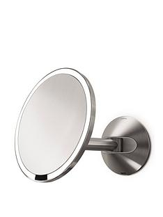 simplehuman-20-cm-wall-mounted-sensor-mirror-ndash-stainless-steel