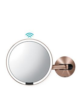 simplehuman-20-cm-wall-mounted-sensor-mirror-ndash-rose-gold
