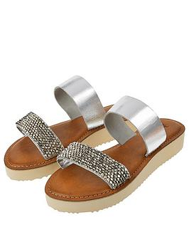 accessorize-wedge-double-strap-slider-silver
