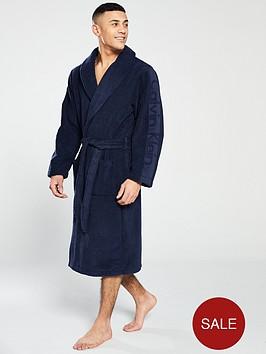 calvin-klein-logo-robe-navy