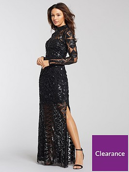 michelle-keegan-embellished-maxi-dress-black