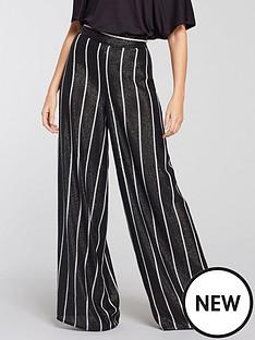 michelle-keegan-stripe-sequin-trouser-monochrome