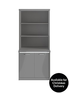 consort-indy-gloss-display-unit-with-led-strip-lights-grey