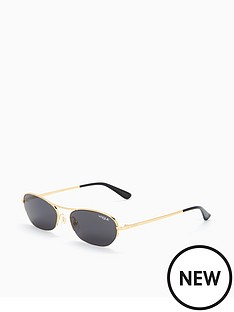 vogue-micro-oval-brow-bar-sunglasses-blackgold