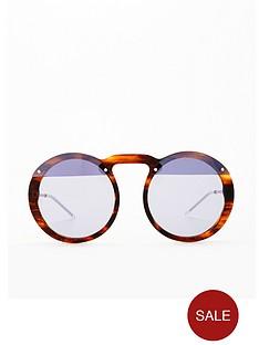 ccc3034c1ead Emporio Armani Emporio Armani Light Blue Lens Round Sunglasses