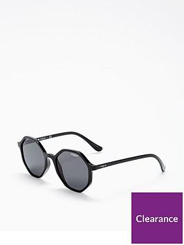 e0bcef7754 VOGUE Black Hexagon Sunglasses