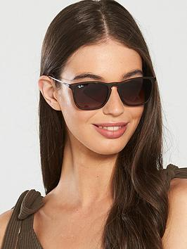 Ray-Ban Ray-Ban Rayban Chris Havanna Rectangular Sunglasses Picture