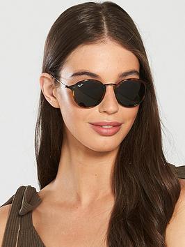 Ray-Ban  Rayban Round Tort Rim Sunglasses