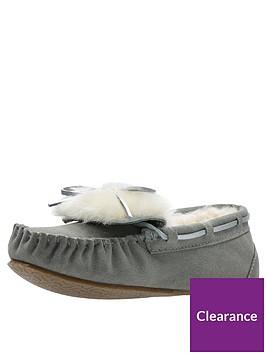 2383a7d3d1ee0c Clarks Warm Glamour Slipper - Grey