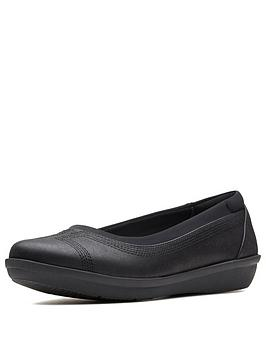 Clarks Clarks Cloudsteppers Ayla Low Ballerina Shoes - Black Picture