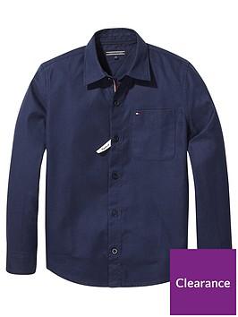 tommy-hilfiger-boys-brushed-flannel-shirt-navy