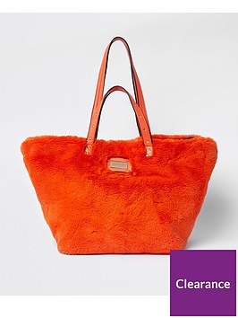 river-island-faux-fur-shopper-bag-orange