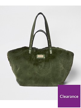 river-island-faux-fur-shopper-bag-khaki