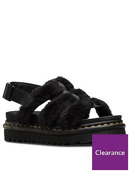 dr-martens-yelena-fluffy-toby-flat-sandal-black