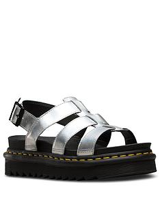dr-martens-yelena-metallic-leather-flat-sandal-silver