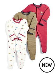 mamas-papas-baby-boys-3-pack-aeroplane-sleepsuits