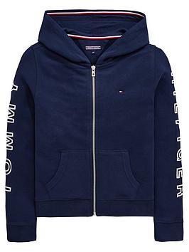 tommy-hilfiger-girls-arm-print-zip-through-hoodie-navy