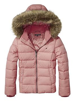 tommy-hilfiger-girls-faux-fur-hood-down-jacket