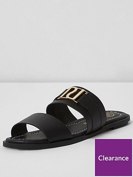 river-island-two-strap-slide-black