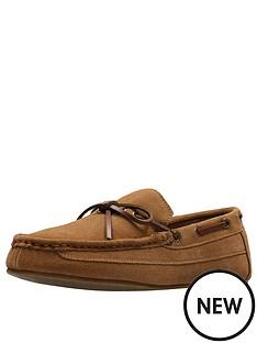 clarks-suede-slipper