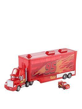 Disney Cars Disney Cars Mini Racer Mack Truck Transporter Picture