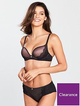 boux-avenue-sandy-satin-trim-plunge-bra-black
