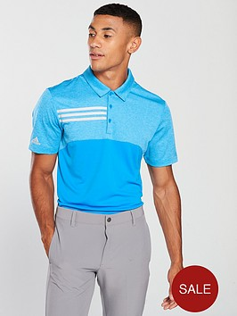 adidas-golf-3-stripe-heather-blocked-polo