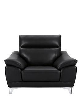 nordic-fauxnbspleather-armchair