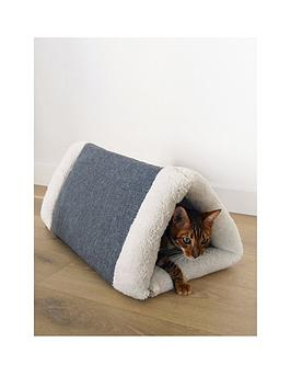 rosewood-snuggle-plush-2-in-1-cat-comfort-den