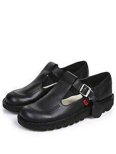 kickers-kick-lo-aztec-leathernbspflat-shoenbsp--black