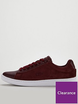 7e77410641b6 ... Lacoste Carnaby Evo 318 8 Spw Trainer - Burgundy White. View larger