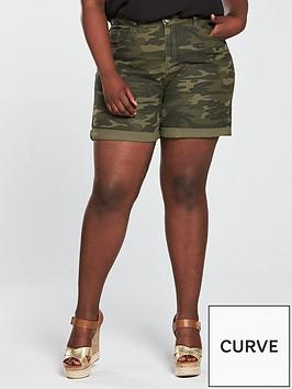 v-by-very-curve-camouflage-denim-short-print