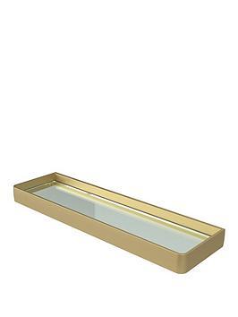 aqualux-haceka-aline-glass-shelf-ndash-gold